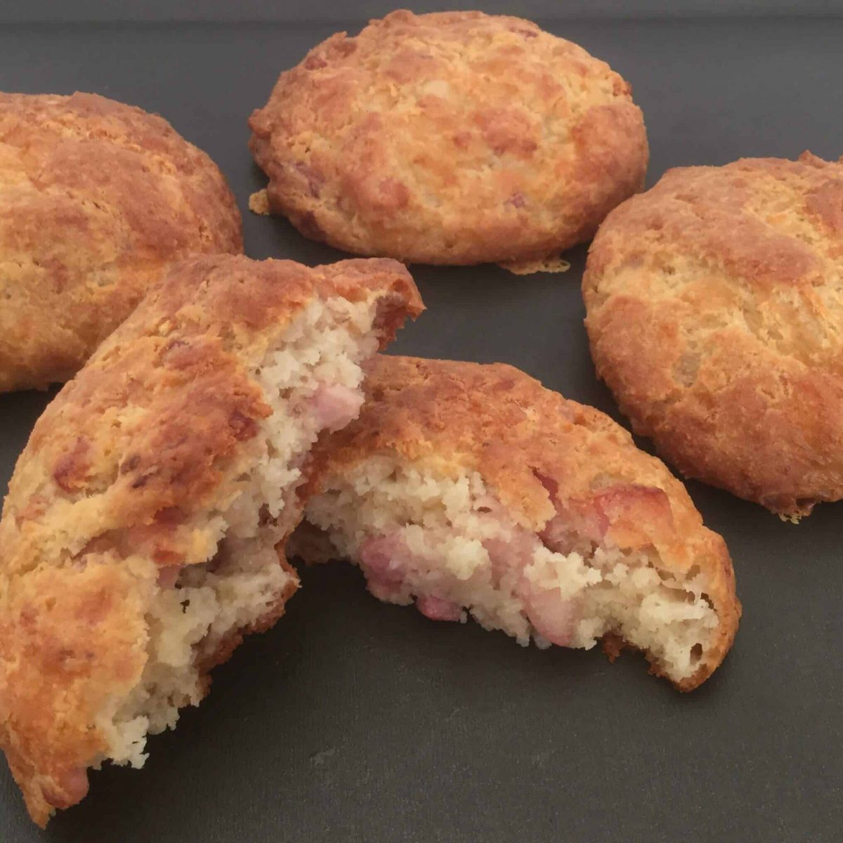 4 bacon and cheese biscuits