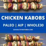 3 chicken kabobs