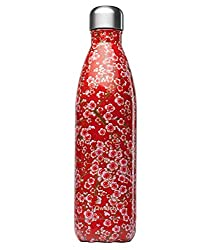 a red stainless steel isothermal bottle