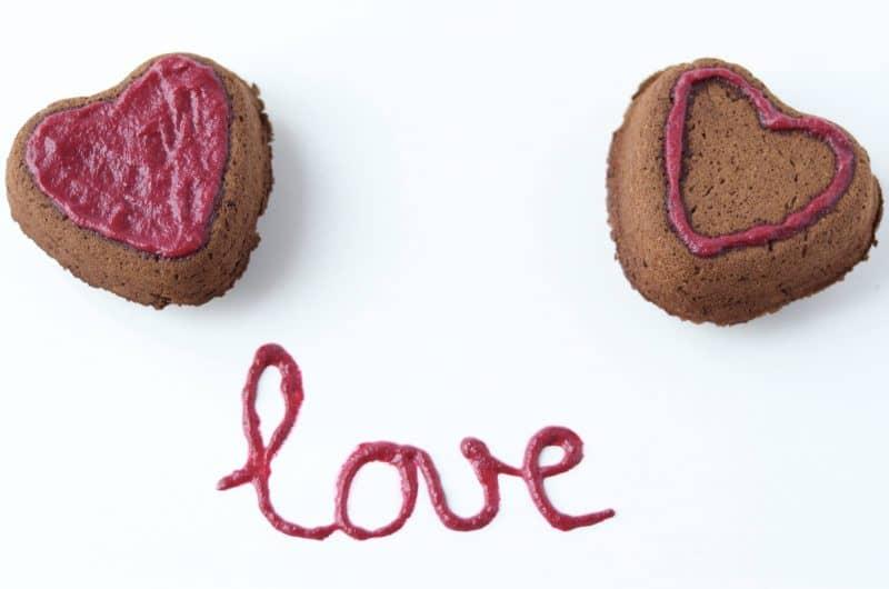 Gâteaux coeur chocolat (sans gluten, vegan, AIP)