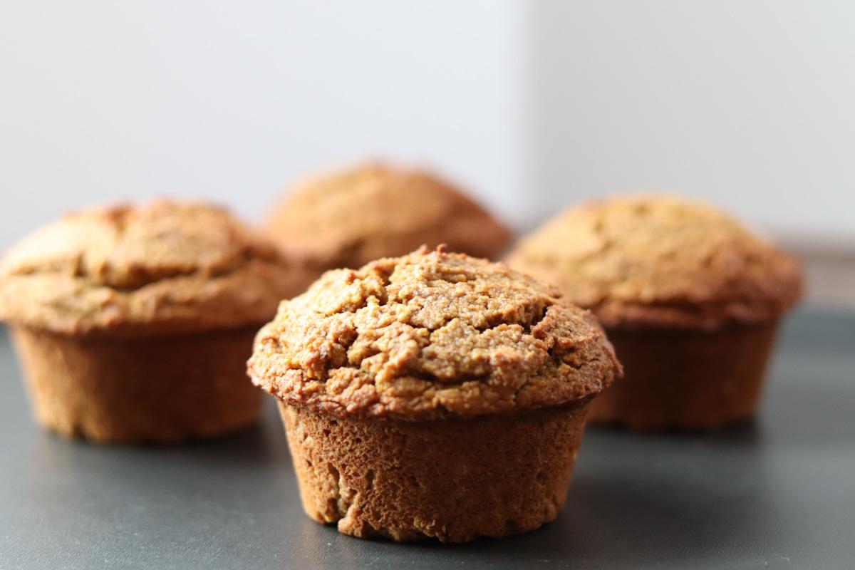 4 gluten free pumpkin muffins