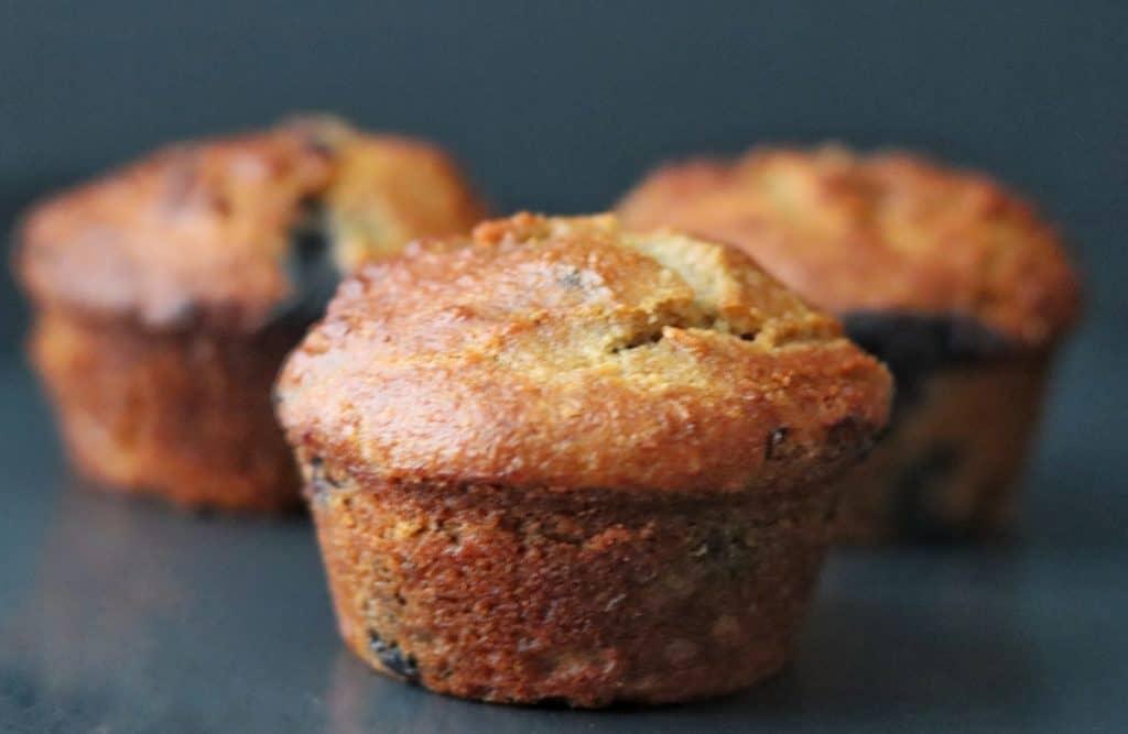 3 banana blueberry muffins