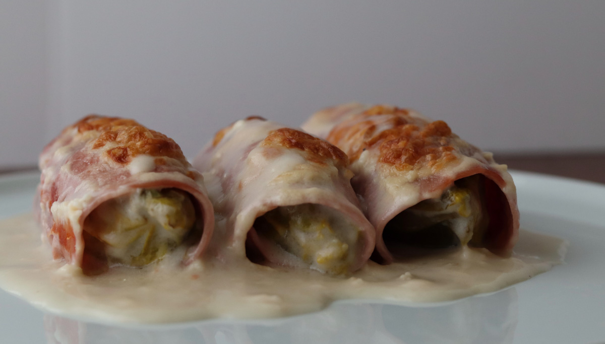 Belgian endive casserole with gluten free bechamel