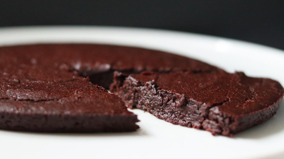 Fondant au chocolat (sans gluten, sans beurre)