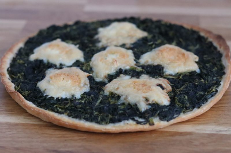 Gluten free spinach and goat cheese tart