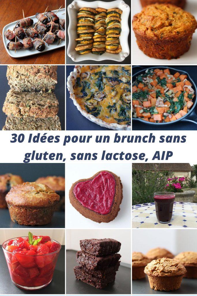 collage de photos de recettes incluses dans la liste d'idées pour un brunch maison