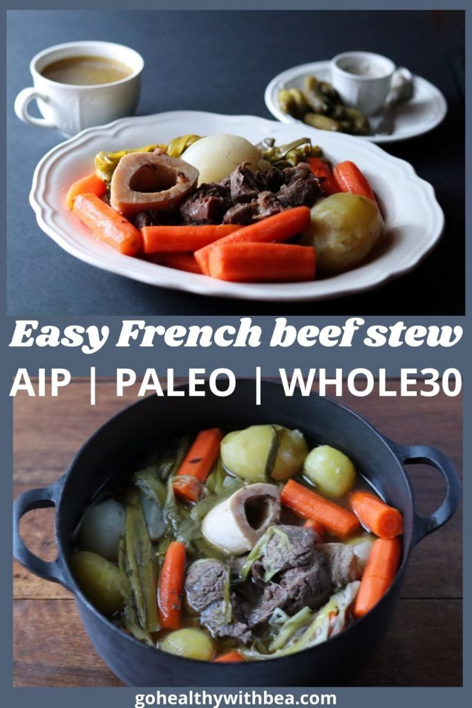 graphic with 2 pictures of beef stew and a text overlay